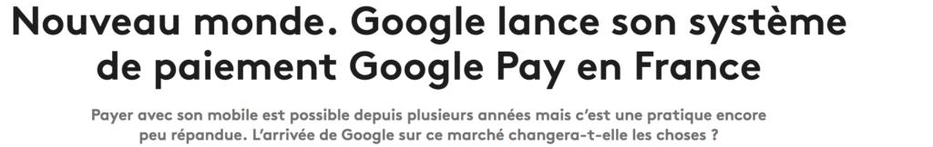Google pay en France